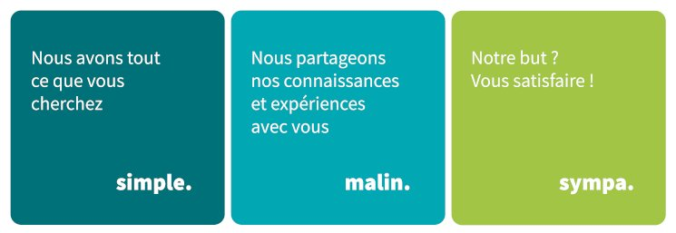 Simple. Malin. Sympa.
